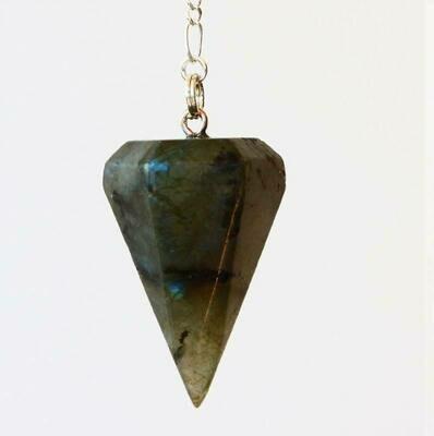 Pendule hexagonal Labradorite