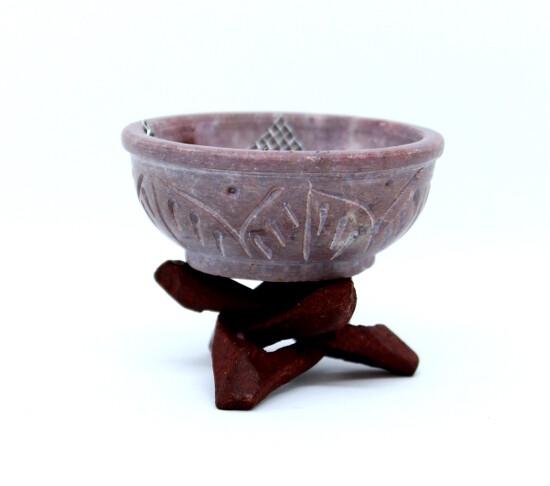 Brûle-encens pierre en forme de chaudron