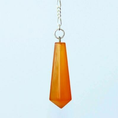 Pendule de bâton hexagonal Cornaline jaune