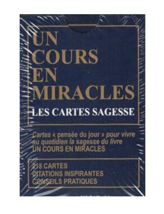 Un cours en miracles les cartes sagesse