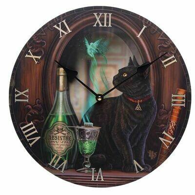 Horloge chat noir