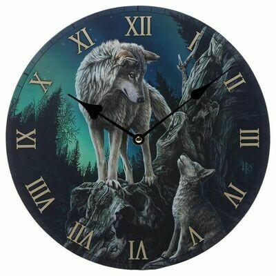 Horloge loup chef de meute