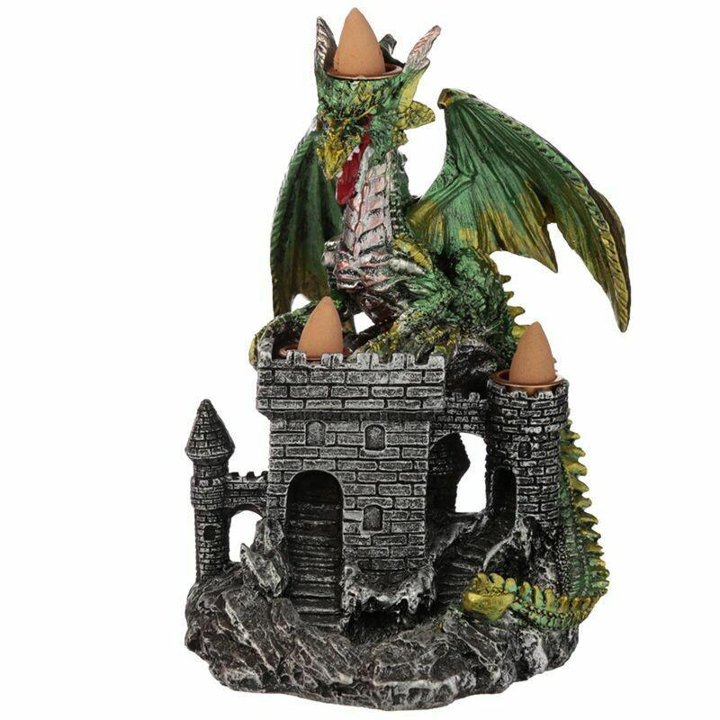 Brûleur d'encens à reflux château du dragon