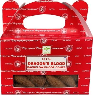 Cône d'encens à reflux Dragon's Blood Satya Nag Champa