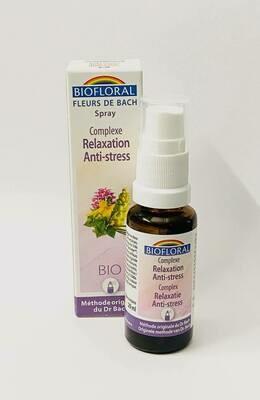 Fleurs de Bach Relaxation, Anti-stress en spray Biofloral 20 ML