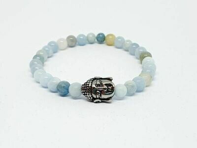 Bracelet Aigue Marine, 6 mm
