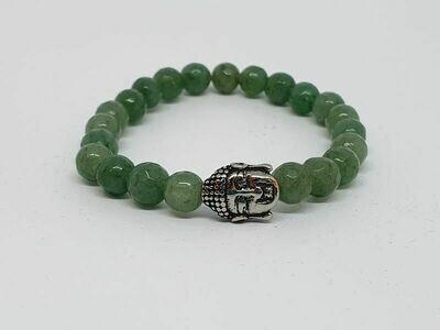 Bracelet aventurine verte facettée, 6mm