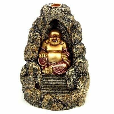 Brûleur d'encens à reflux Bouddha rieur