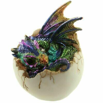 Statue dragon enfant du futur