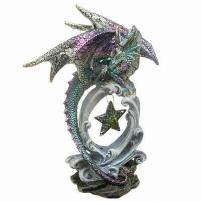 Statue dragon vœux sous les étoiles