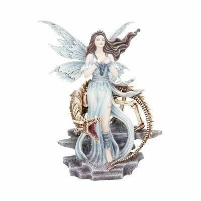 Statue fée Lexa avec dragon