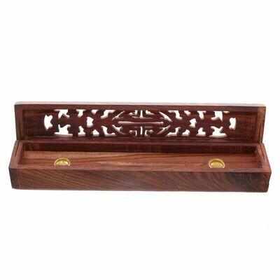 Brûle encens - Boîte en bois sculpté