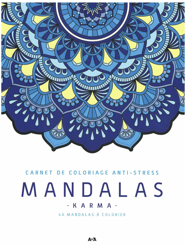 Carnet de coloriage Anti-stress Mandalas karma