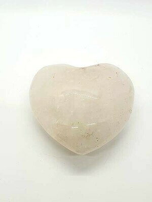 Cœur en cristal de roche 9 cm 370gr