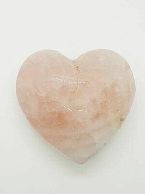 Cœur en quartz rose 10 cm 490gr