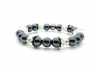 Bracelet hématite 8 mm
