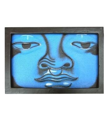 Tableau bois bouddha 20x30 cm