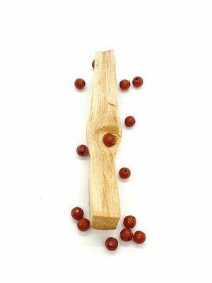 Jaspe rouge facetté 6 mm - Perles