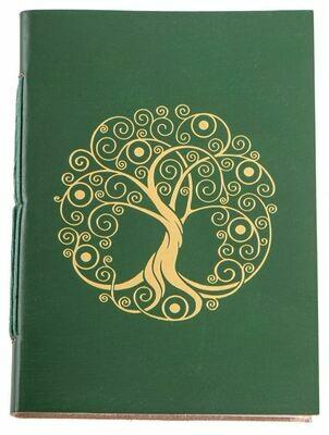 Cahier avec dorure Arbre de Vie - Vert