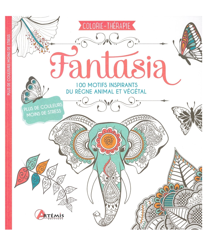 Fantasia 100 motifs inspirants du règne animal et végétal à colorier