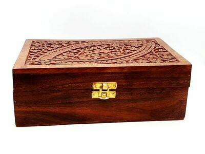 Boîte en bois à compartiments