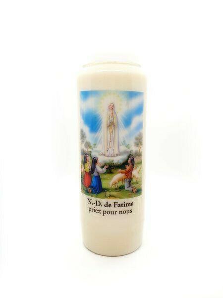 Bougie Neuvaine Notre Dame de Fatima