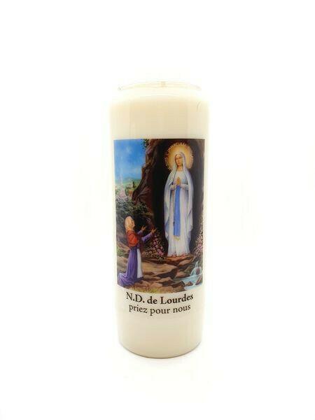 Bougie Neuvaine Notre Dame De Lourdes