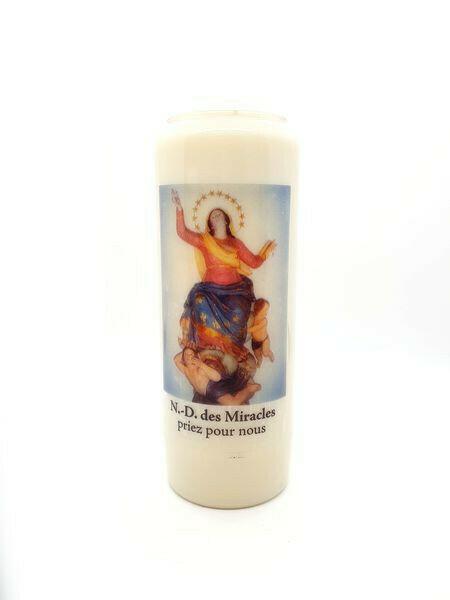Bougie Neuvaine Notre Dame des Miracles