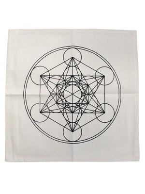 Tapis avec symbole Cube de Métatron