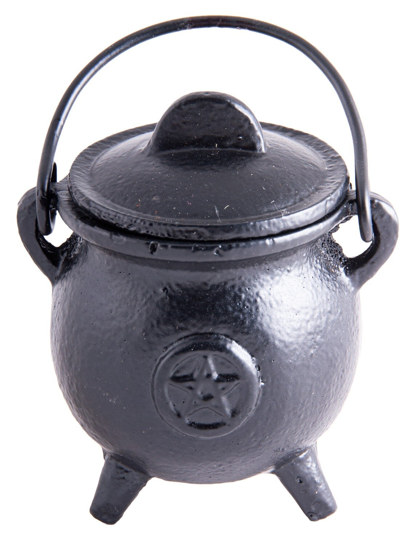 Mini-chaudron de sorcière en fonte avec poignée