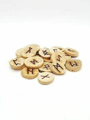 Rune en bois massif