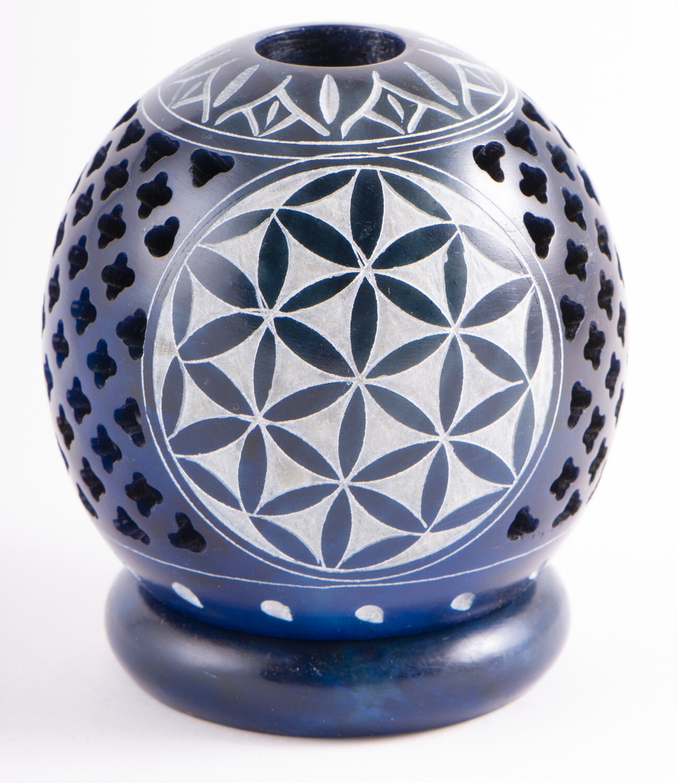 Brûle encens Fleur de vie - bleu
