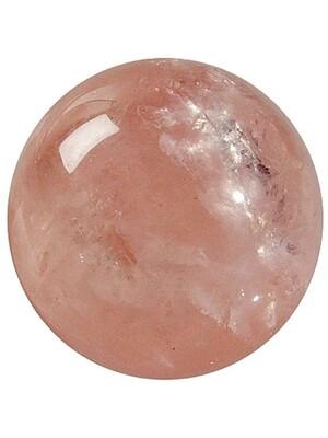 Sphère Quartz Rose - Pièce de 40 mm