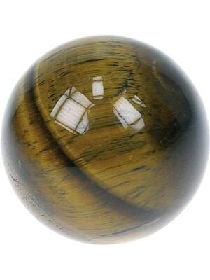 Sphère oeil de Tigre - Pièce de 40 mm