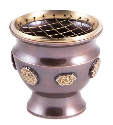 Brûle encens en laiton - Chakras