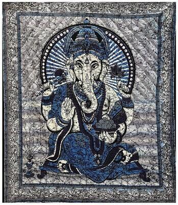 Tenture Ganesh Bleu 220 x 240 cm