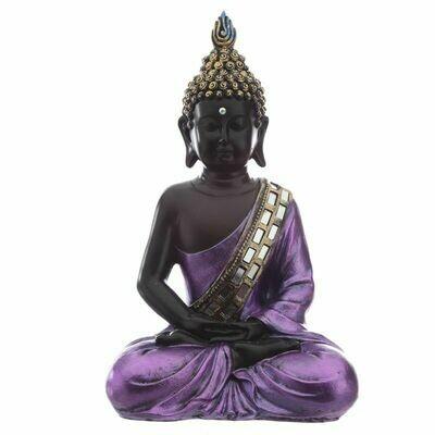 Figurine Bouddha Thailandais Noir & Violet