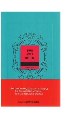 Burn After Writing bleu
