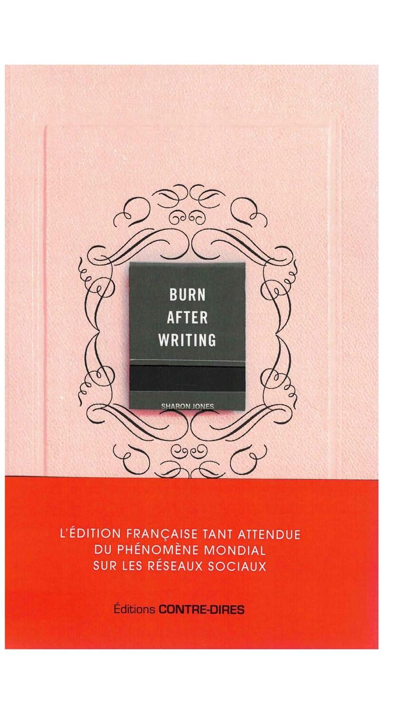 Burn After Writing Rose