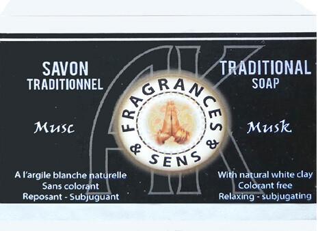 Savon fragrances & musk blanc 100g