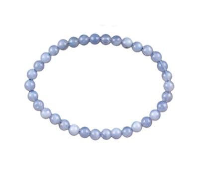 Bracelet calcédoine bleue 6mm