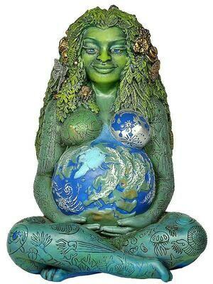 Statue Gaia Terre Mère, 17.5 cm