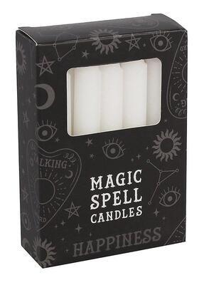 Lot de 12 bougies rituels - Blanc Joie