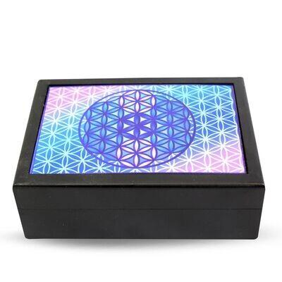 Boîte noire avec Fleur de vie