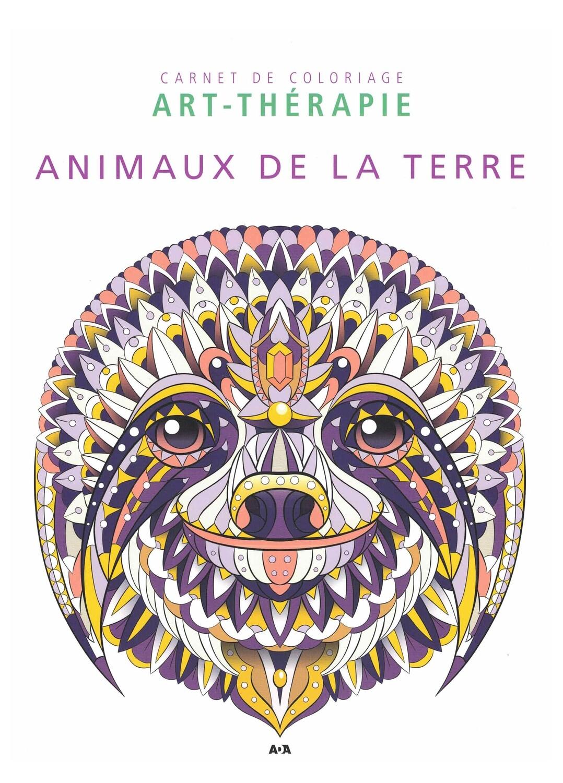 Carnet de coloriage Art-therapie animaux de la terre