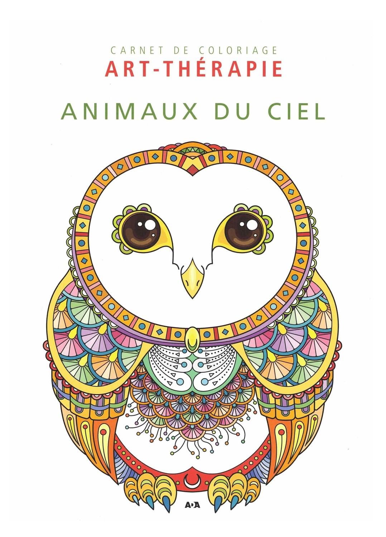 Carnet de coloriage Art-thérapie animaux du ciel