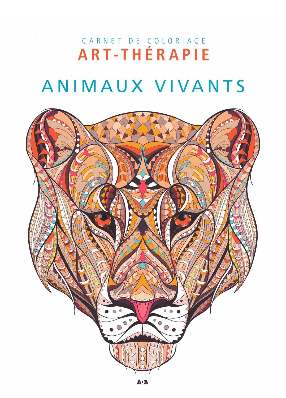 Carnet de coloriage Art-thérapie animaux vivants