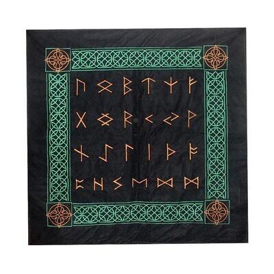 Tapis velours Runes 80x80 cm