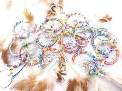 Porte clé dreamcatcher coloré perles