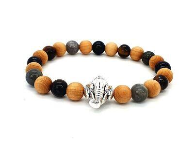 Bracelet protection Ganesh, 8 mm